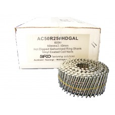 AC50R250HDGAL SIFCO® 50mm Hot Dip Galvanised Ring Shank Coil Nail