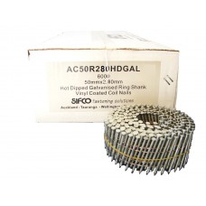 AC50R280HDGAL SIFCO® 50mm Hot Dip Galvanised Ring Shank Coil Nail