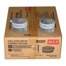 ZFCP65W3HD MAX® 65mm x 3.30mm Galvanised Metal Connector Coil Nails
