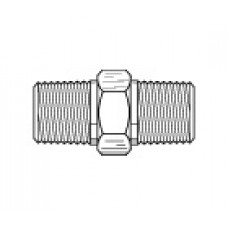 10483SS, SIFCO® Double Male Nipple stainless steel 6mm to 6mm Air Fitting