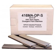 416MA-DP-S SIFCO® 16mm Stainless Staple for use in FASCO® F20A90-40, OMER® 90.28CL, 90.32 & 90.38B Air Staplers