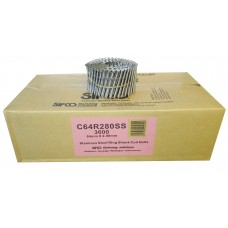 C64R280SS SIFCO® 64mm Stainless Ring Shank Coil Nails