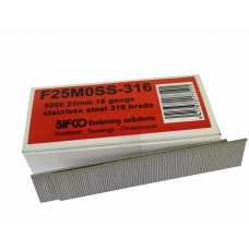 F25M0SS-316 SIFCO® 25mm 18GA Stainless 316 Brad