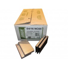 S4/16NC65 OMER® 64mm Galvanised Staple for use in OMER S4.65-ST & Bostitch 863S4  Air Staplers
