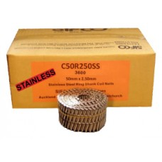 C50R250SS SIFCO® 50mm Stainless Ring Shank Coil Nails