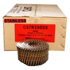 C57R250SS SIFCO® 57mm Stainless Ring Shank Coil Nails