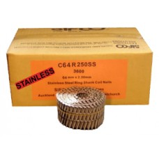 C64R250SS SIFCO® 64mm Stainless Ring Shank Coil Nails