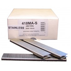 418MA-S SIFCO® 18mm Stainless Staple for use in FASCO® F20A90-40, OMER® 90.28CL, 90.32 & 90.38B Air Staplers