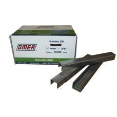 50/10 10MM OMER® 10mm Galvanised Industrial Carton Staples 5,000pcs/Box