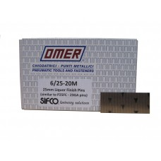 6/25 OMER® 25mm Galvanised 23 Gauge Headless Brad