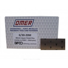 6/30 OMER® 30mm Galvanised 23 Gauge Headless Brad