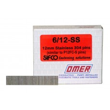 6/12-SS OMER® 12mm Stainless Steel 23 Gauge Headless Brad