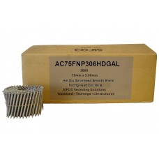 AC75FNP306HDGAL SIFCO® 75mm Hot Dip Galvanised Coil Nail